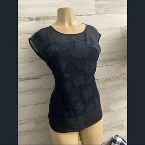 Ann Taylor navy blue women blouse new